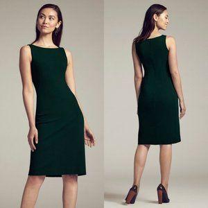 M.M. Lafleur Lydia Forest Green Sheath Dress Sz 2
